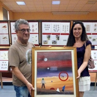 Donazione del quadro di Gianpaolo Pisoni alla figlia