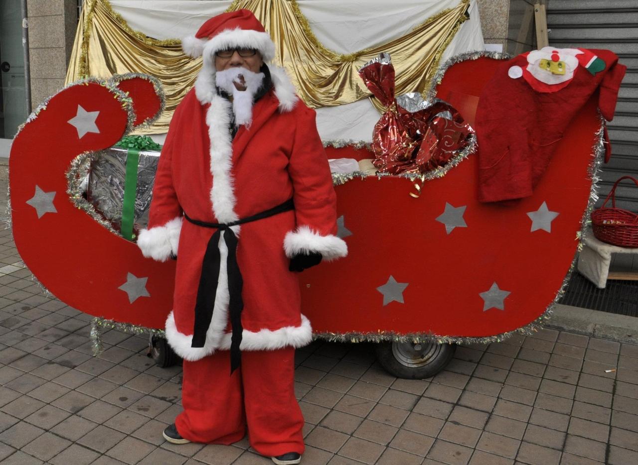 Babbo Natale interpretato dal fotografo Pasquale Campolo