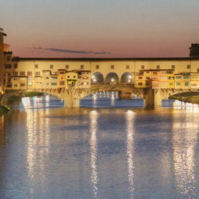Ponte Vecchio al tramonto, foto di Pasquale Campolo