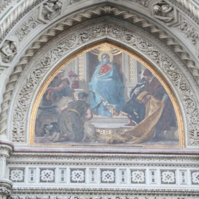 Mosaico nella lunetta del portale destro, Cattedrale di Santa Maria del Fiore, foto di Pasquale Campolo
