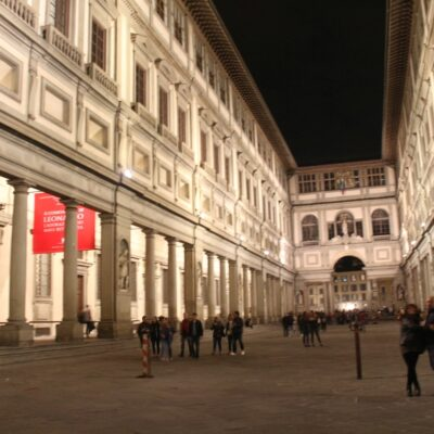Galleria degli Uffizi, in notturna, foto di Pasquale Campolo