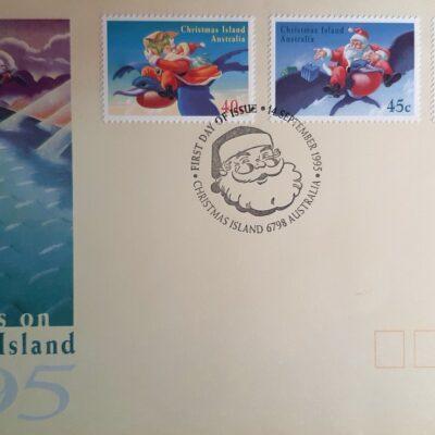 D01 - Natale 1995, Cartolina con francobolli, Islanda