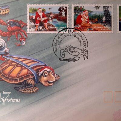 D03 - Natale 1997, Cartolina con emissione Australiana