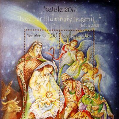 D14 - Natale 2011, Emissione con Magi in adorazione, San Marino