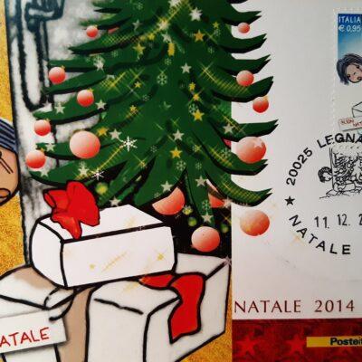 D18 - Natale 2014, Cartolina con francobollo - Italia