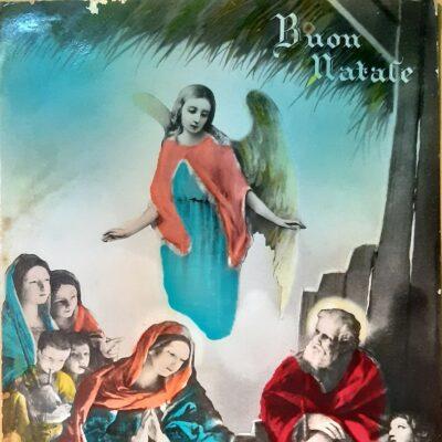 Natale 1933, Cartolina, Natale con pastori in adorazione