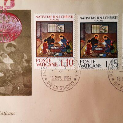 Natale 1954, Cartolina con emissione, Città del Vaticano