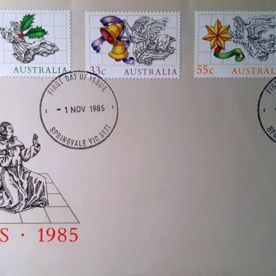 Natale 1985, Cartolina con francobolli, Australia