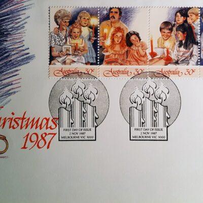 Natale 1987, Cartolina con emissione Australiana